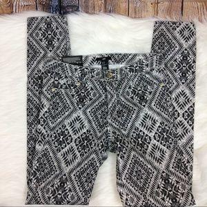 New H&M Geometric Print Skinny Super Stretch Pants